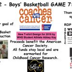 Coaches v Cancer Finale-this Friday Night!