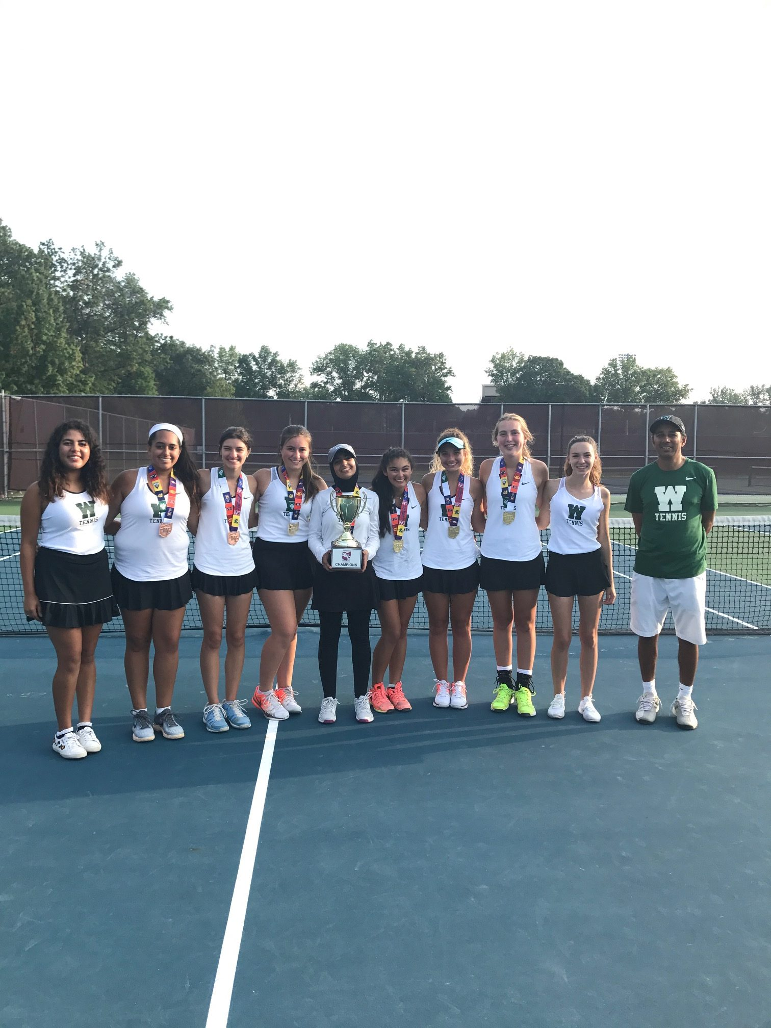 Girls Tennis Wins 3rd Straight SWC Title