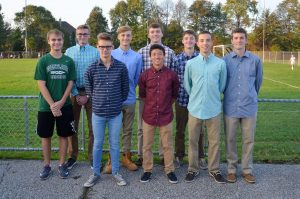 Boys Cross Country Senior Night October 9, 2017