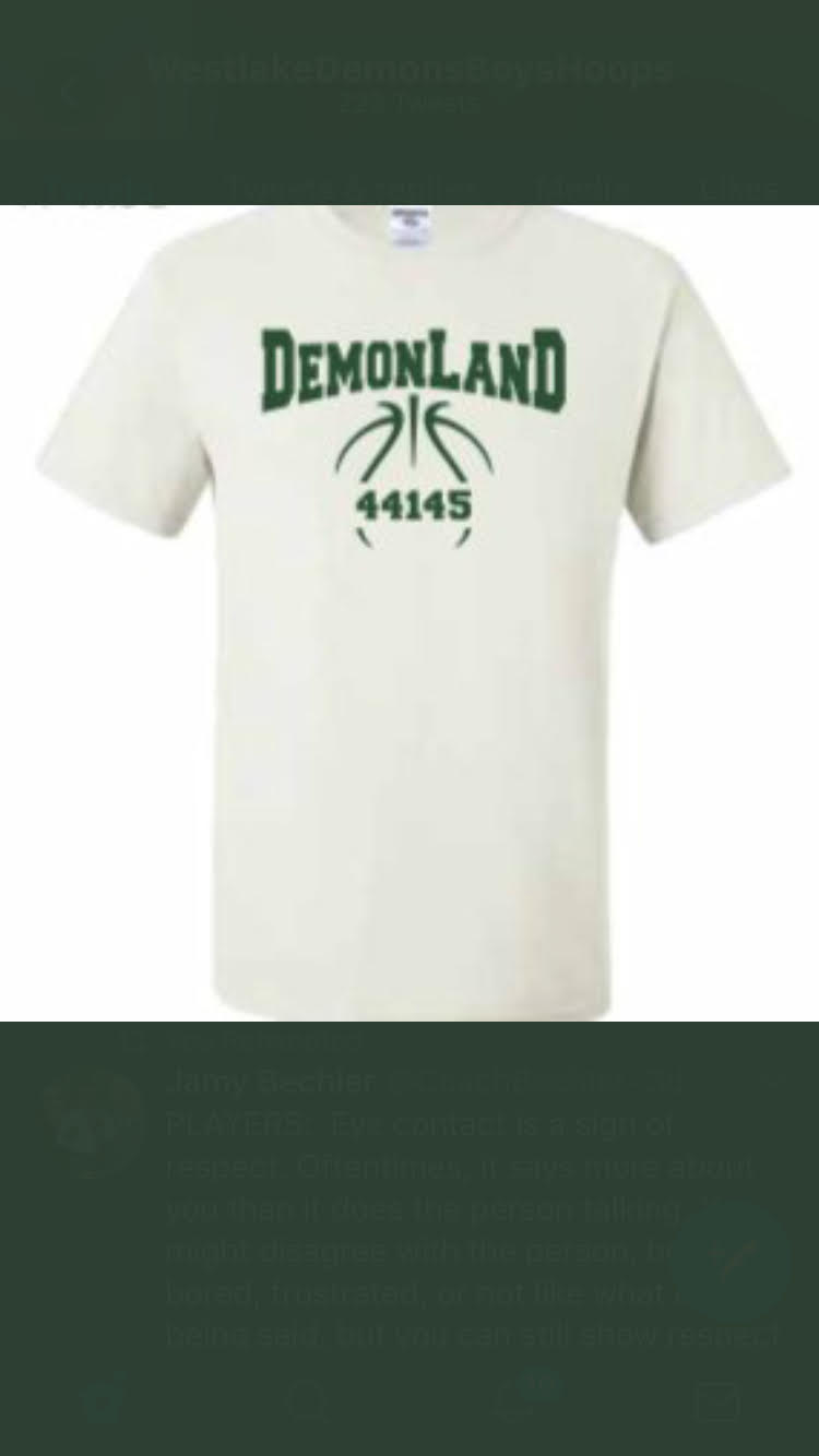 Support Demonland Boys and Girls Hoops in Free Shirt!