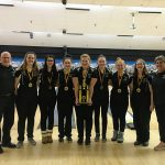 Girls Varsity Bowling finishes 1st place at Black and Gold Tournament
