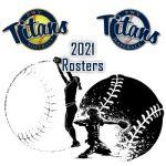 PWV TITANS 2021 Season Rosters