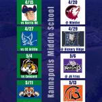 KMS Baseball Schedule
