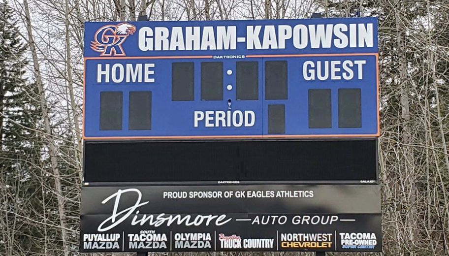 Take a selfie with the new scoreboard