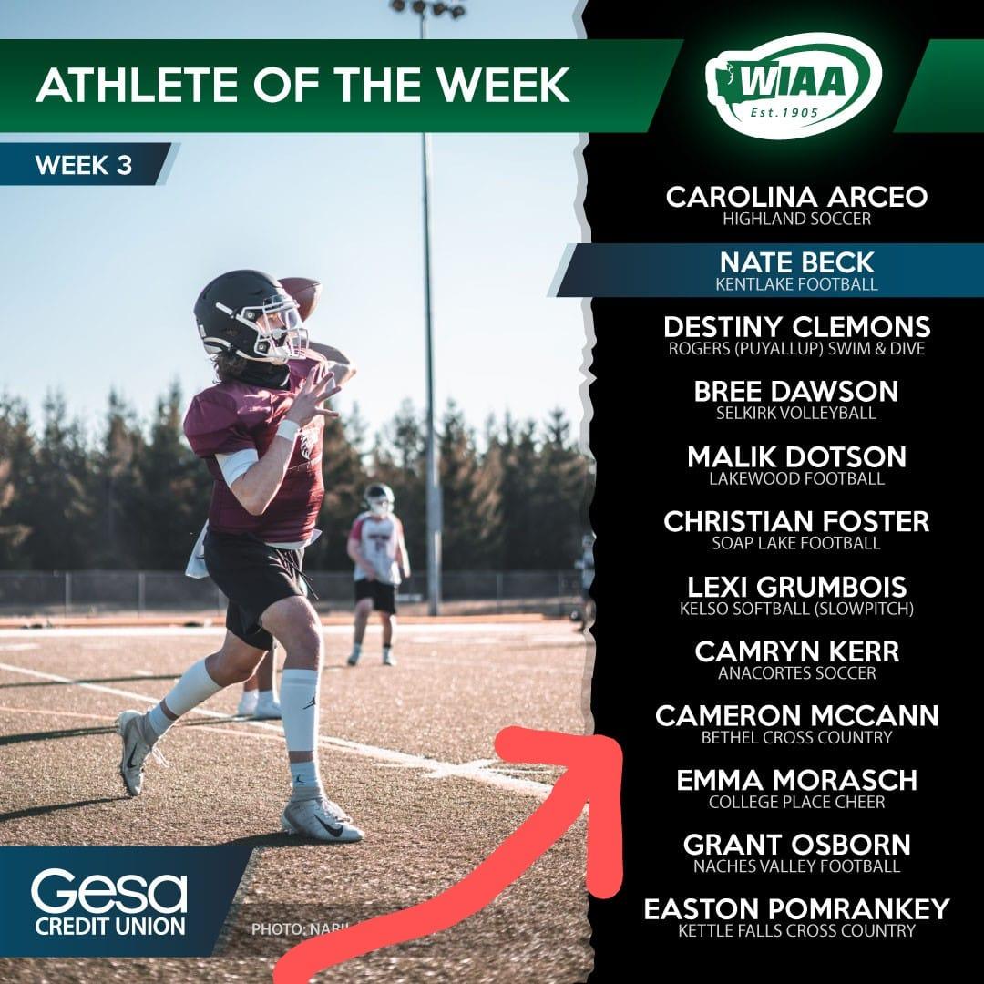 WIAA Athlete of the Week