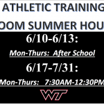 Summer Hours – Athletic Training
