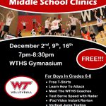 Boy's Volleyball Clinics – Middle School