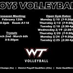 Boys Volleyball Tryout Information