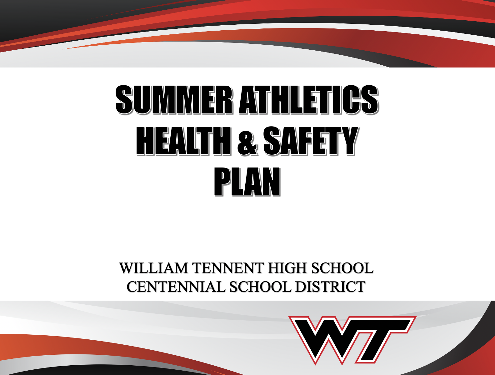 WTHS Athletics – Health and Safety Plan – July 2020