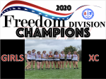 Congratulations to the Girls XC team – Freedom Division Champions