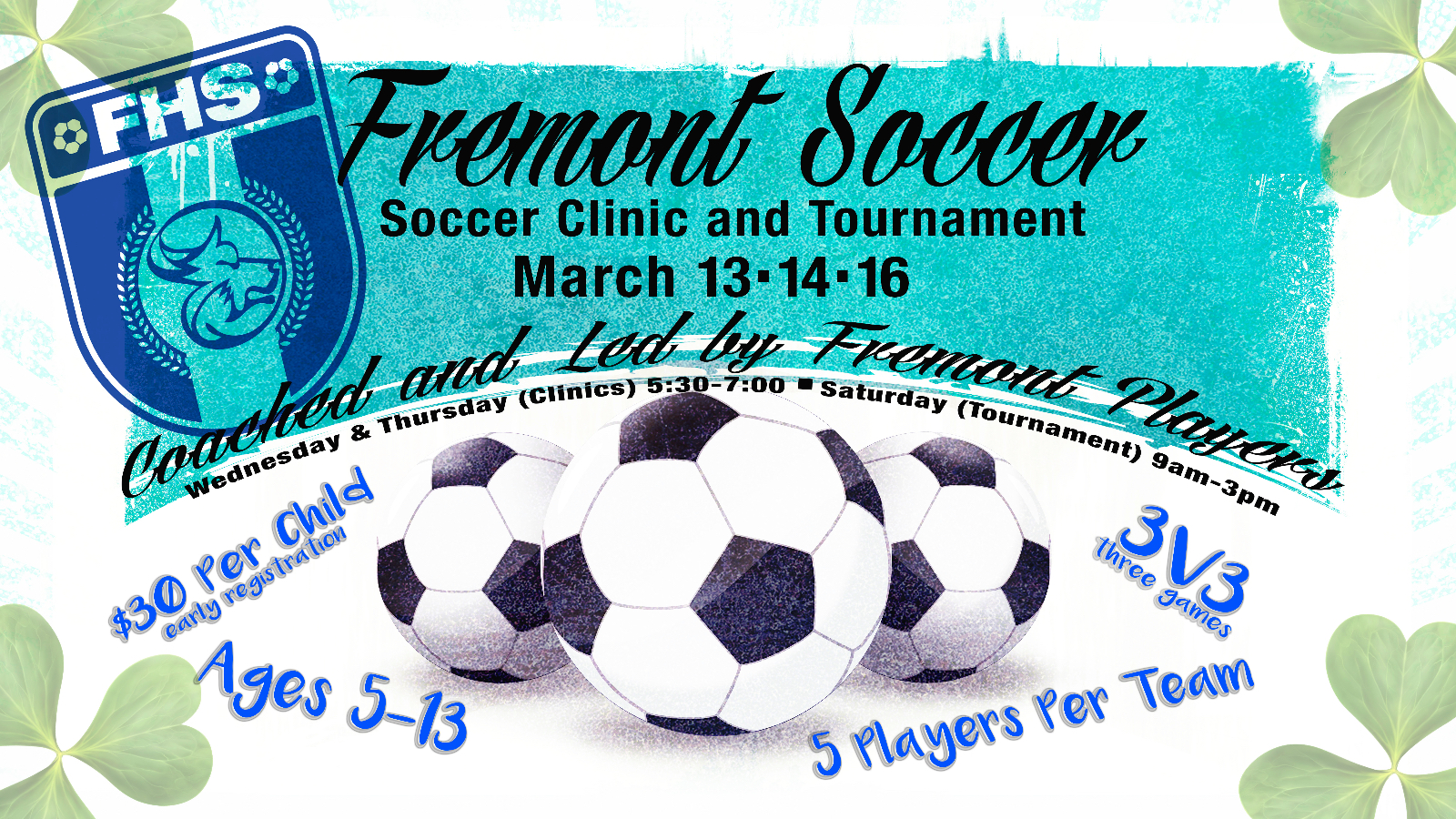 Boys Soccer 3v3 Tournament and Clinic