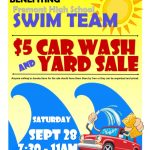 Cancelled – Swim Team Car Wash / Yard Sale Sept 28th