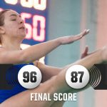 Girls Swimming defeats Mt. Pleasant, 96-87.