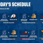Schedule for Friday, February 12, 2021