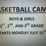 BASKETBALL CAMP – BOYS & GIRLS – 1ST, 2ND, & 3RD GRADE