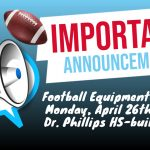 Football Equipment Fitting-Mon. April 26th