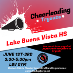 Cheerleading Tryouts June 1st-3rd