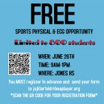 FREE PHYSICAL AND ECG OPPORTUNITY