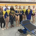 West Allis Central Girls Varsity Swimming finish 5th place in South Side Sprints