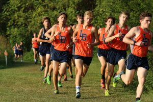 Varsity Boys' Cross Country on Sept. 20th at Pole Green Park