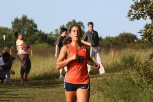 Varsity Girls' Cross Country on Sept. 20th at Pole Green Park