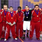 Wrestling Team in action, December 4-5