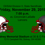 Fighting Irish play in the State Semifinals this Friday, November 29 vs. LaSalle in Sidney