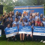 Lady Irish Volleyball Team volunteered for the JDRF ONE WALK! #GoIrish #Volunteer