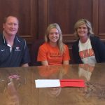Congratulations to Senior Olivia Morrison who signed a National Letter of Intent to play Women's Volleyball at the University of Findlay #GoIrish