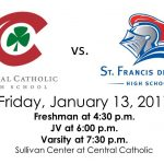 Buy your tickets Wed, Thurs & Fri for the CCHS vs SFS Basketball Game this Friday! #GoIrish