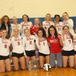 Lady Irish Volleyball team are District Champions!  #GoFarGoIrish