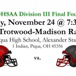 Fighting Irish Return to the Div. III Final Four this Friday, Nov. 24 vs. Trotwood-Madison at Piqua HS #GoFarGoIrish