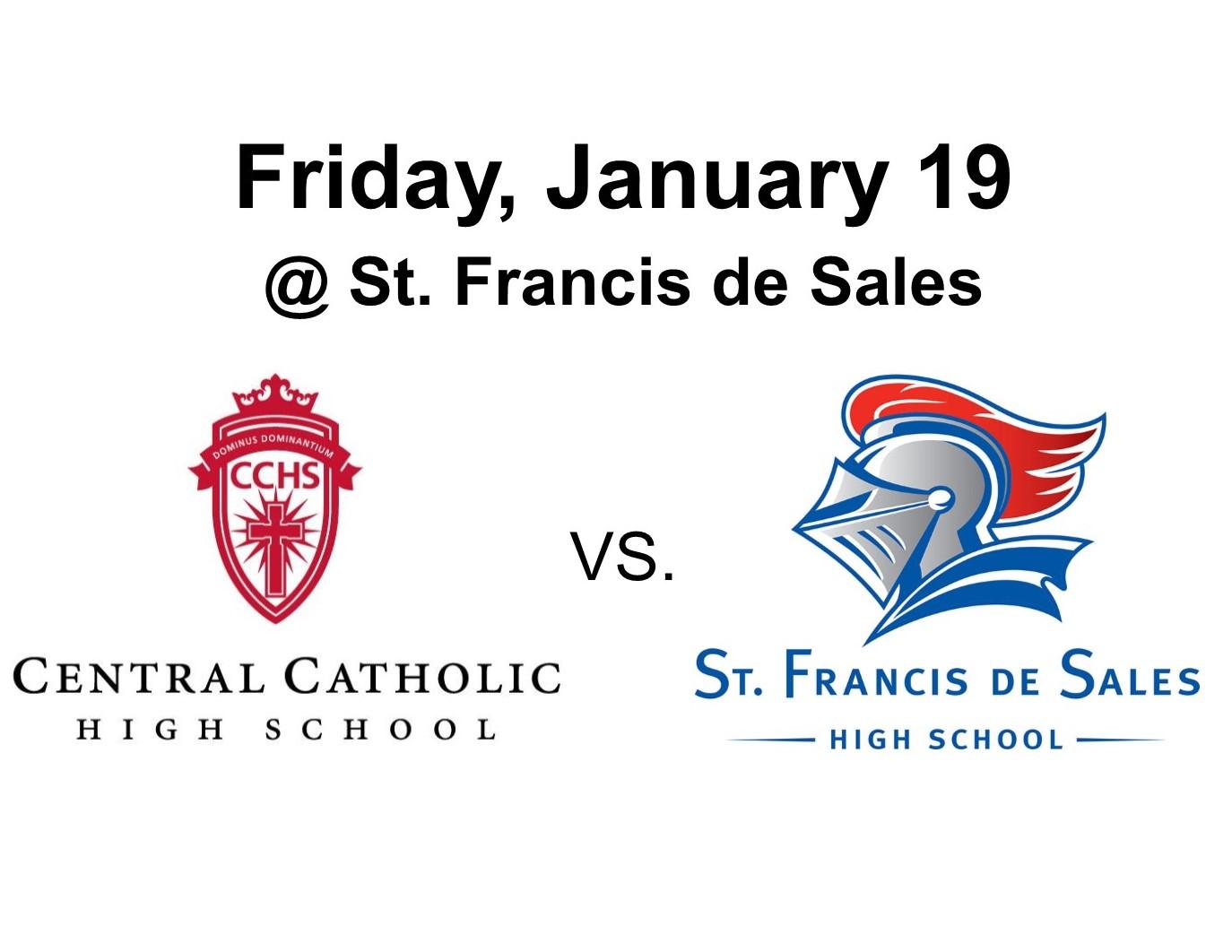 Fighting Irish Boys Basketball vs. Knights this Friday, January 19 at St. Francis – #GoFarGoIrish
