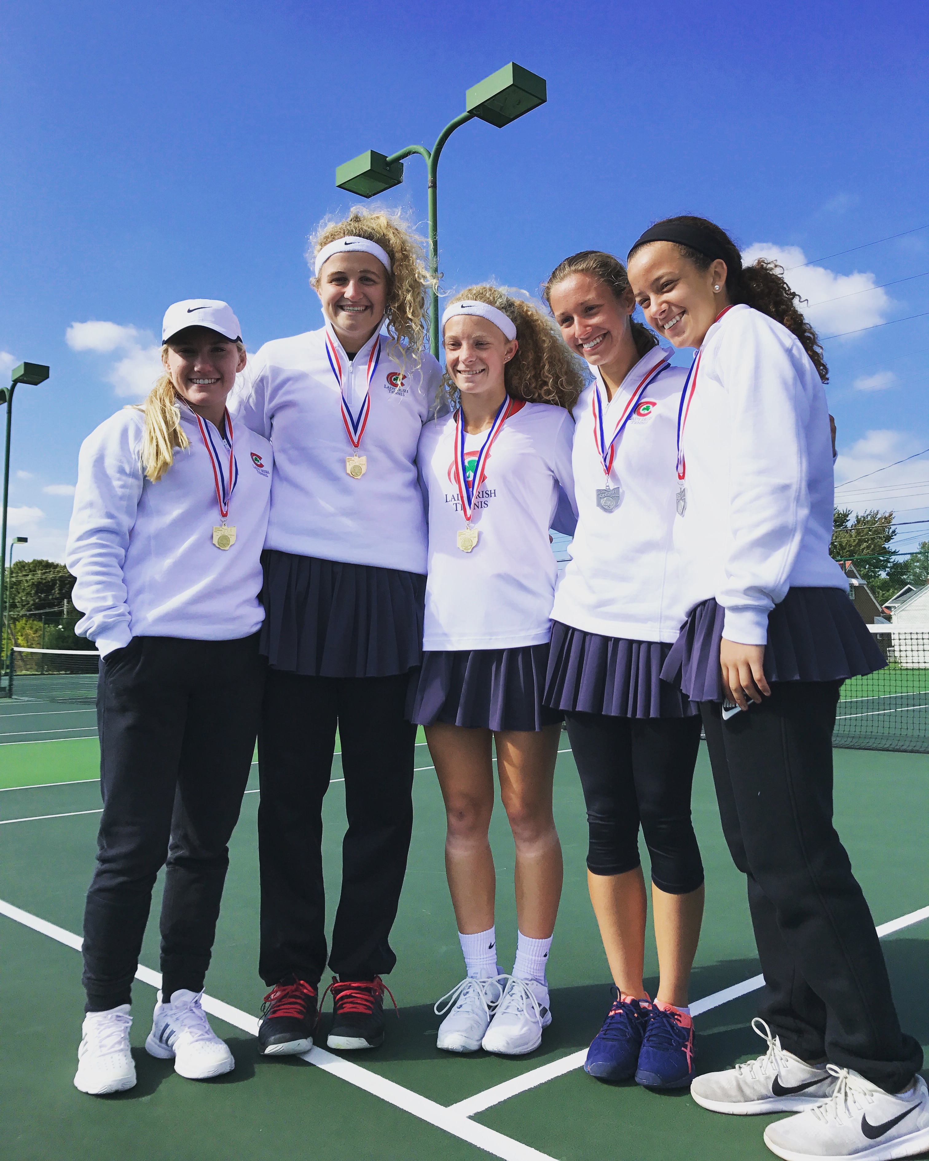 Lady Irish Tennis domination continues at the district final in Port Clinton
