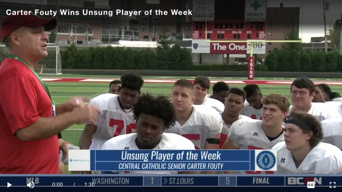BCSN Video: Mercy Health Unsung player of the Week: Central's Carter Fouty