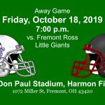Friday, October 18 at Fremont Ross Little Giants
