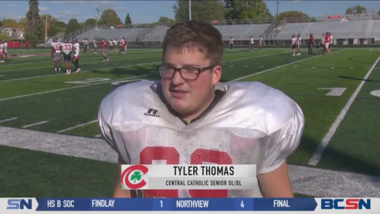 BCSN Video: Central Catholic's Tyler Thomas Gets His Moment in the Spotlight