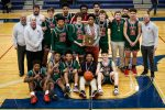 Boys basketball team wins first district title since 2011.