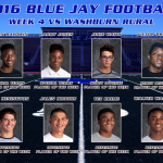 Blue Jay Football Players of the Week for Washburn Rural