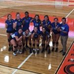 Junction City High School Girls Junior Varsity Volleyball beat Riley County High School 1-0