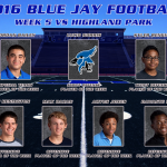 Blue Jay Football Players of the Week for Highland Park