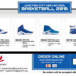 Boys Basketball Shoe Order Option