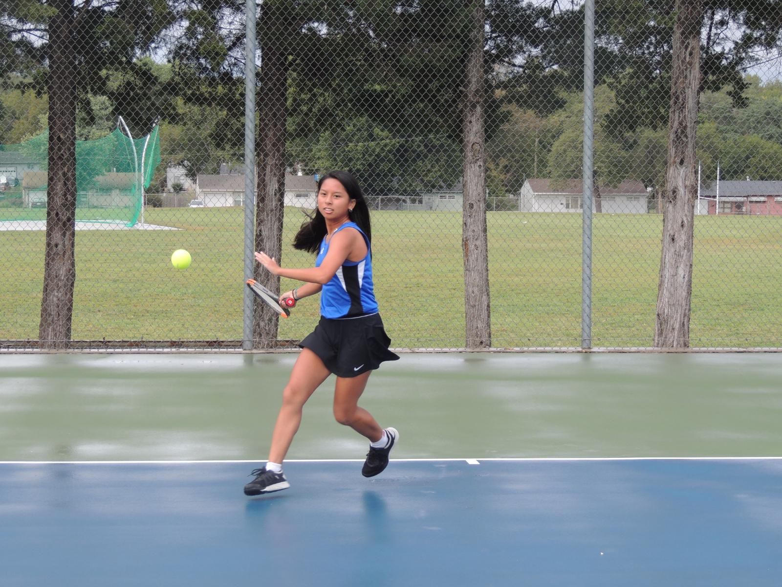 Lady Jay Tennis Centennial League Results