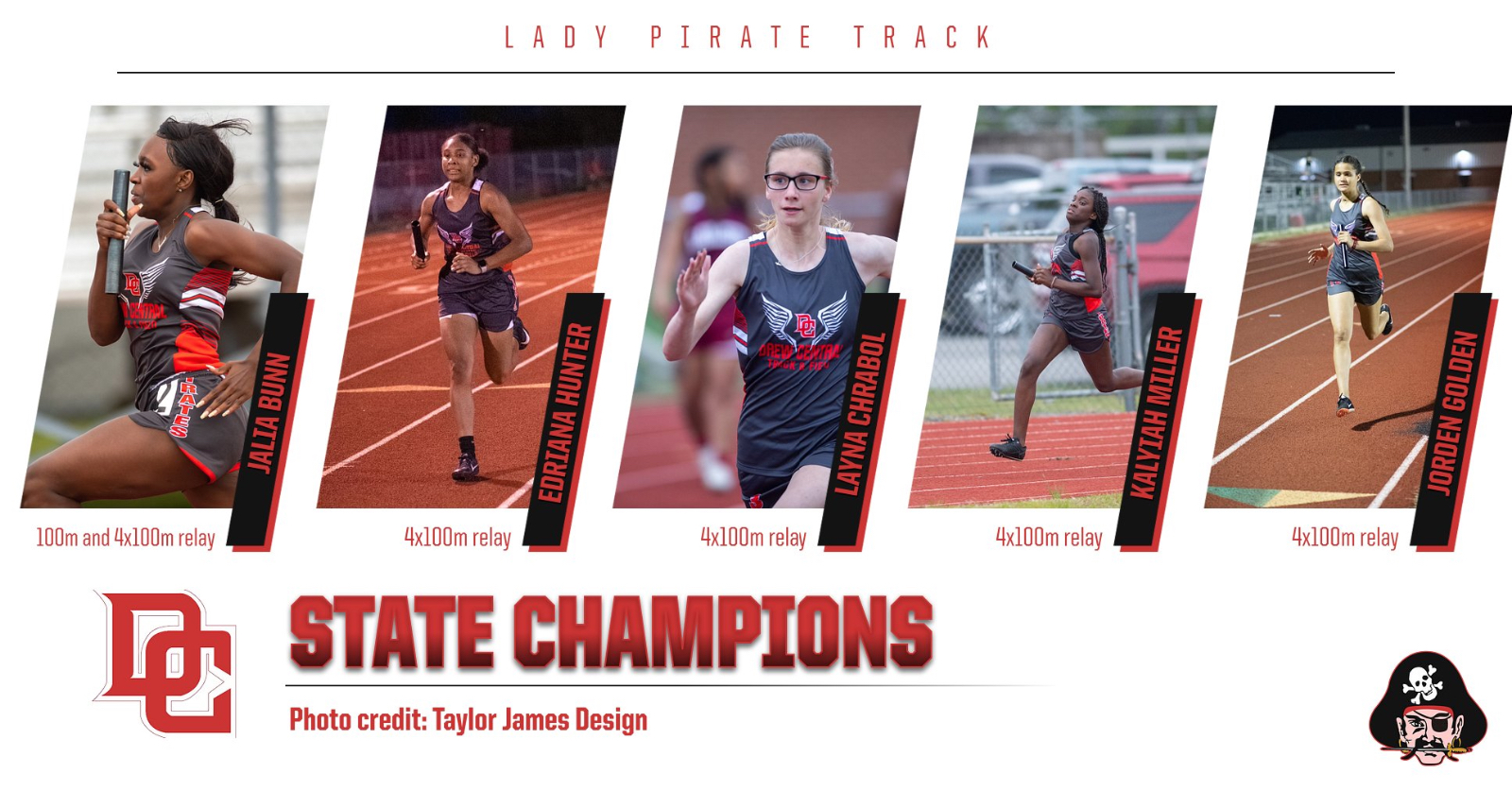 LADY PIRATES TRACK BRINGS HOME TWO STATE CHAMPIONSHIPS