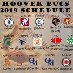 2019 Varsity Baseball Schedule
