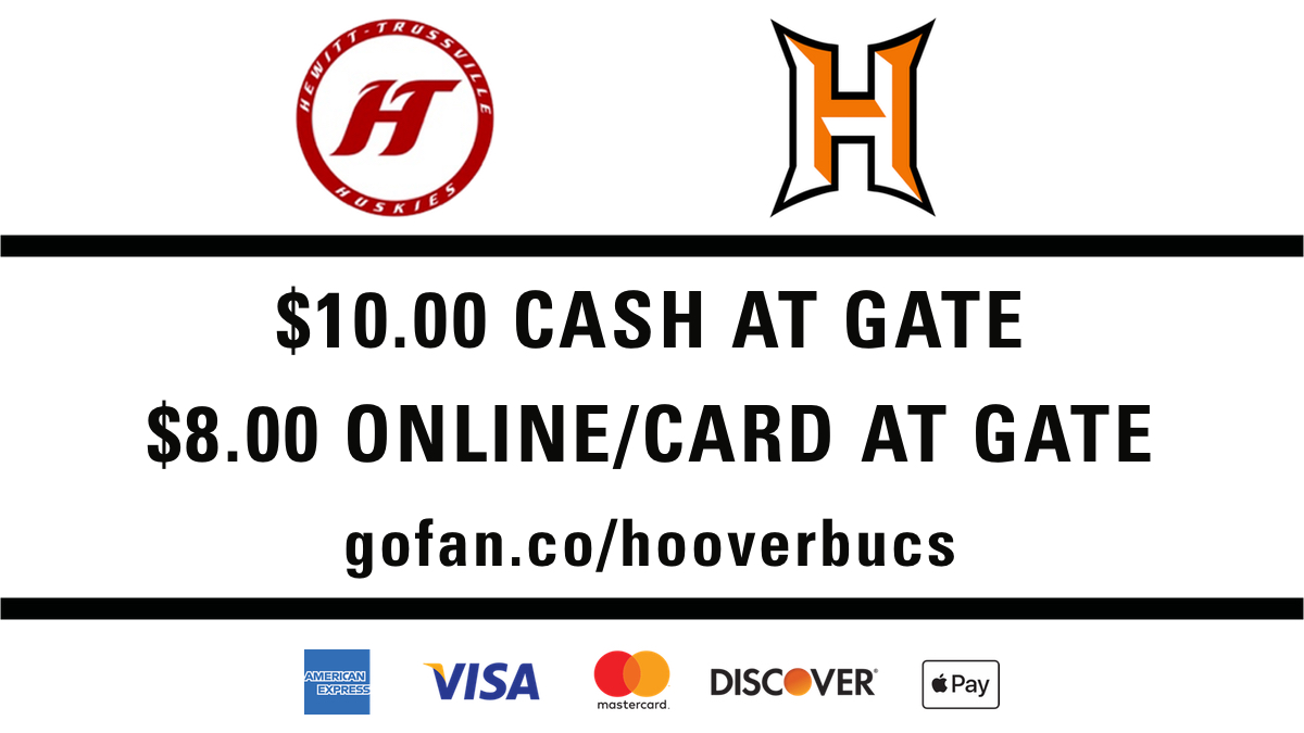 Dear Hoover Fans,      Please review the below and attached information regarding ticket prices and purchase options for the game vs Hewitt-Trussville this week.