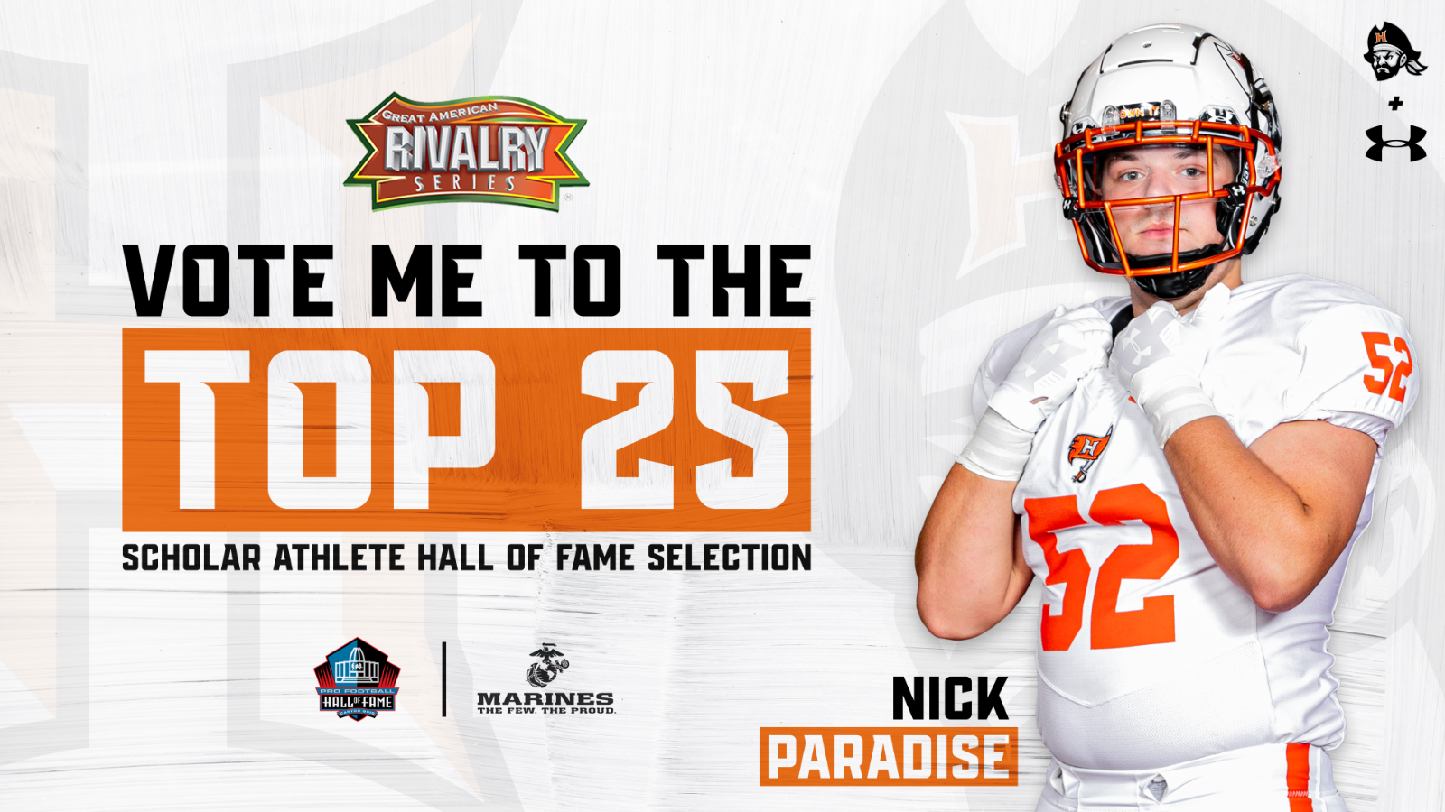 Vote for Nick Paradise to be a part of the 2020 Hall of Fame