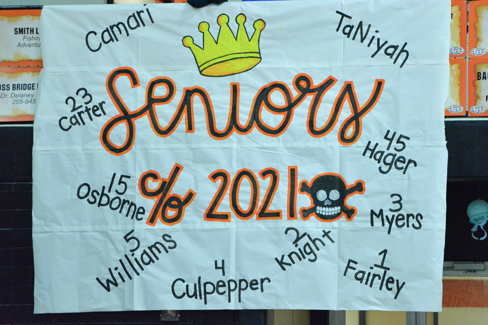 Senior Night for the Lady Bucs Knight and Hager
