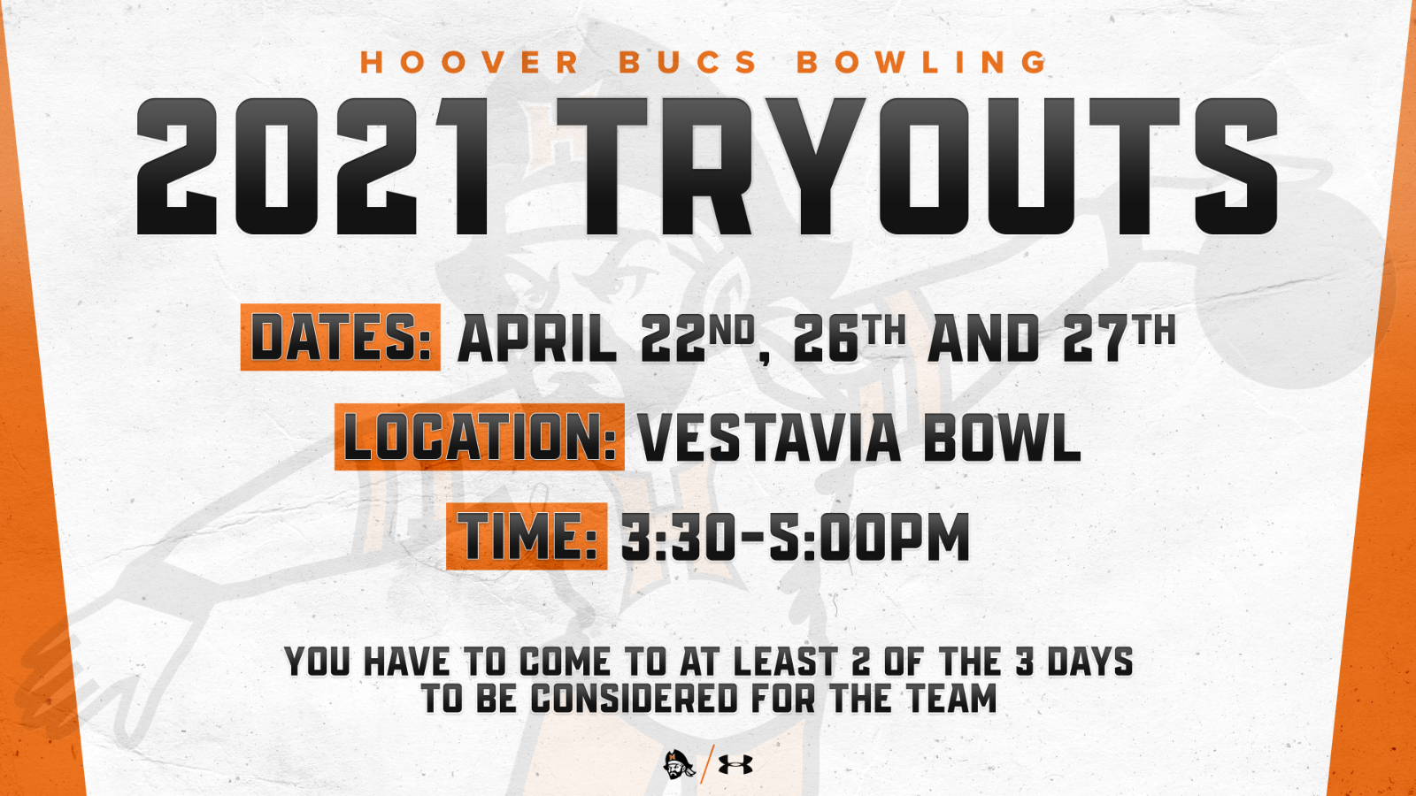 Hoover Bowling Tryouts 2021-2022 School Year