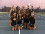 Girls Varsity Tennis finishes 2nd place at 7A Section 3 Tournament